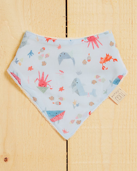 Oriental Ocean Baby Bandana Bib