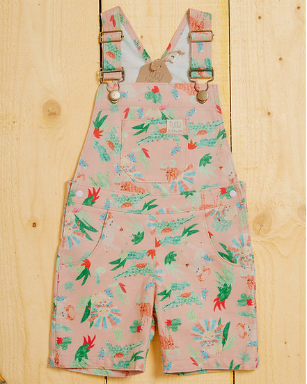 Sophie's Safari Dusty Pink Dungarees