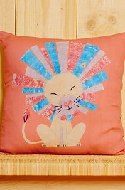 Laughing Lion Cushion Cover