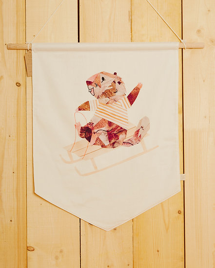 Sledging Marmotte Wall Hanging