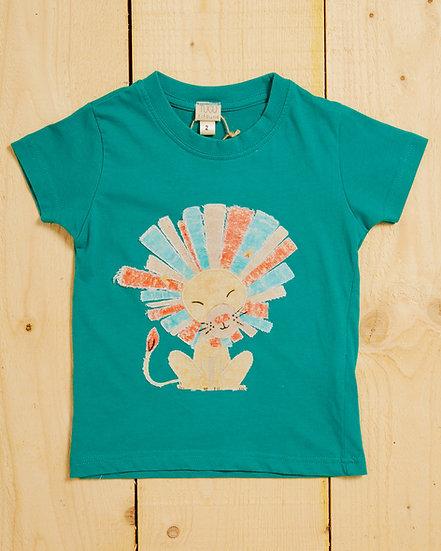 Happy Lion Appliqué T-shirt