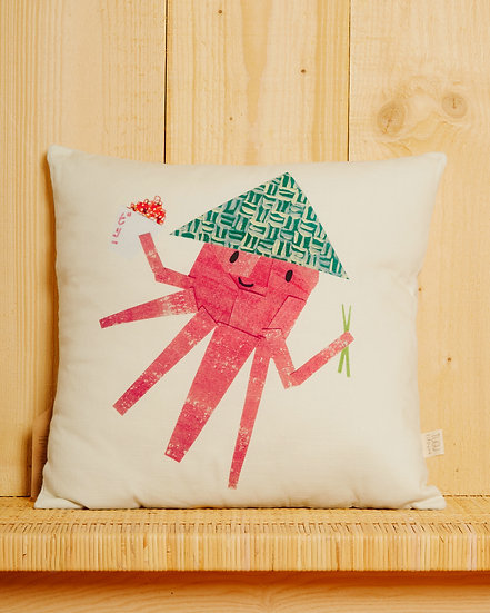 Tako The Octopus Cushion Cover