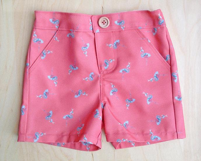 Frankie Flamingo Adventure Shorts Age 4 or 5 Years