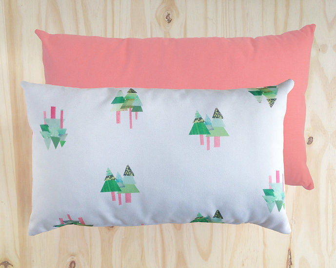 Tall Tall Trees Cushion Cover Pink 30x50cm