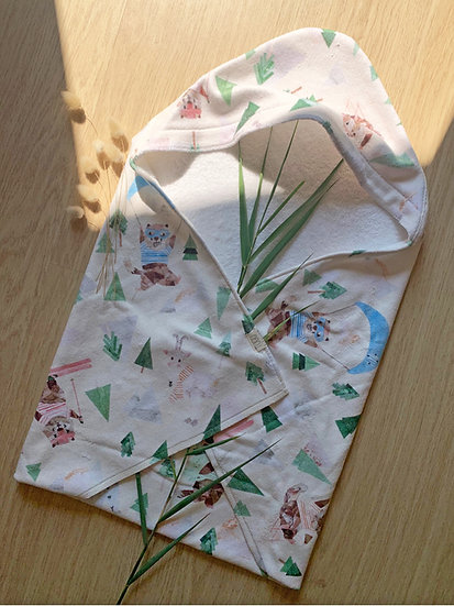 Baby Hooded Towel - Marmotte Mountain Olympics