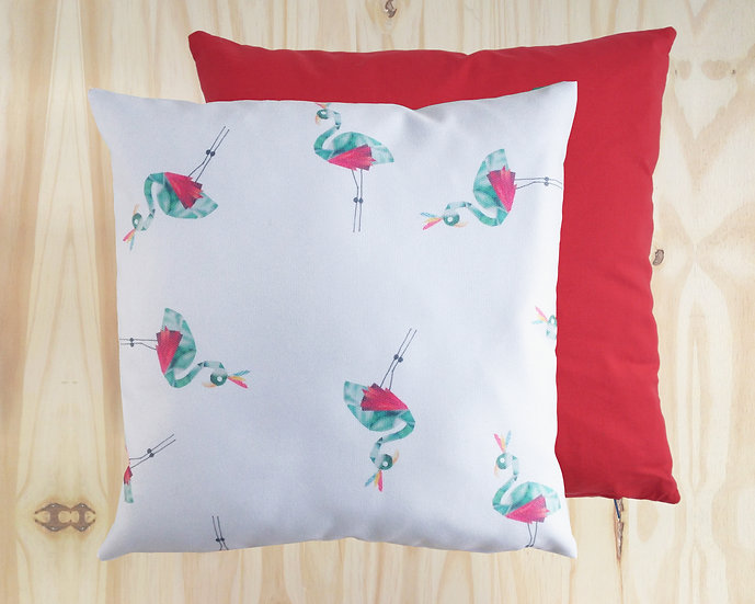 Frankie Flamingo Cushion Cover Red 40x40cm