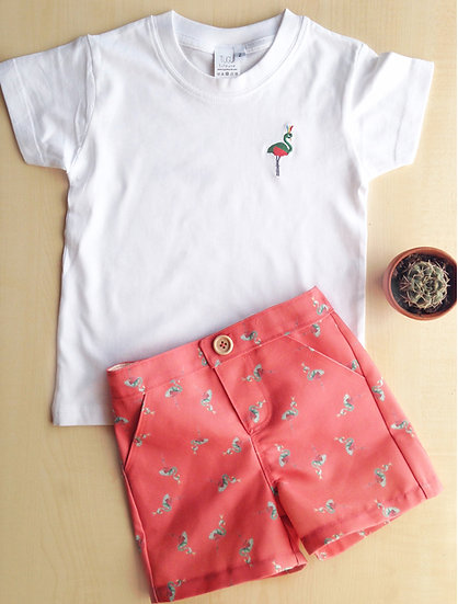 Flamingo Shorts + T-Shirt Outfit Age 5 years