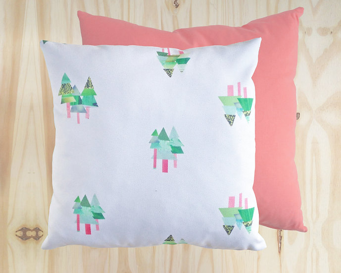 Tall Tall Trees Cushion Cover Pink40x40cm