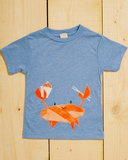 Kani Crab Appliqué T-shirt