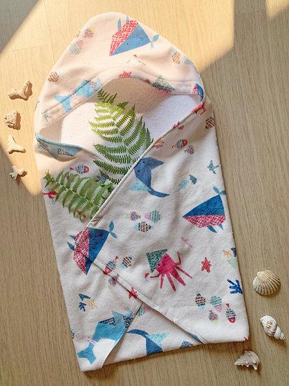 Baby Hooded Towel - Oriental Ocean