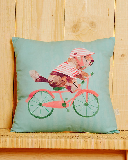 Cycling Marmotte Cushion Cover