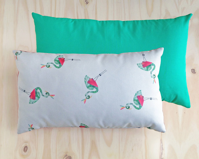 Frankie Flamingo Cushion Cover Green 30X50cm