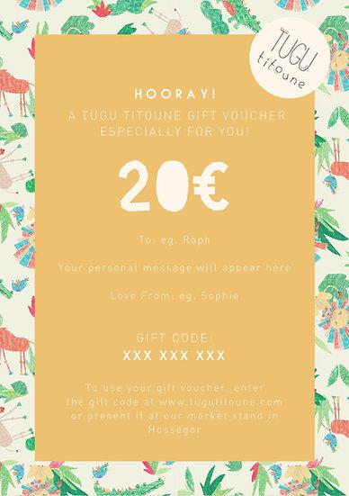 E Gift Voucher 10€ - 250€