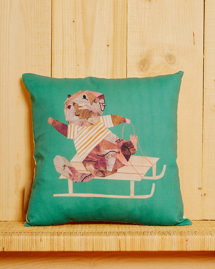 Sledging Marmotte Cushion Cover