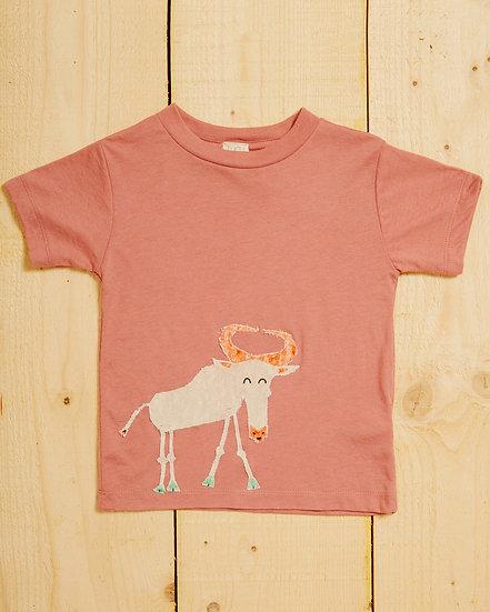 Giggling Gnu Appliqué T-shirt