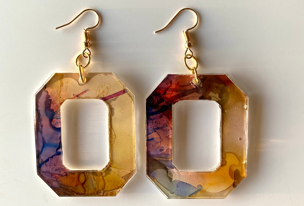 Geometric Earthy Drop Earrings
