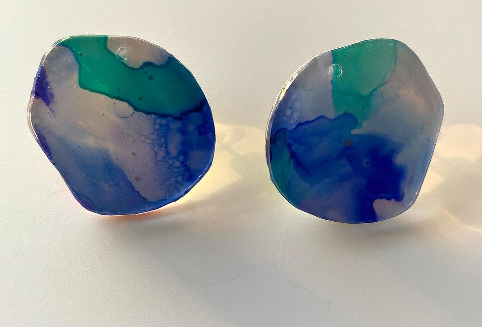 'Deep Water' Stud Earrings