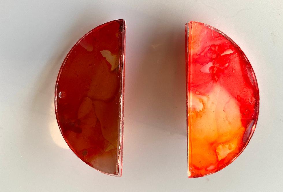 'Ruby Moon' Stud Earrings