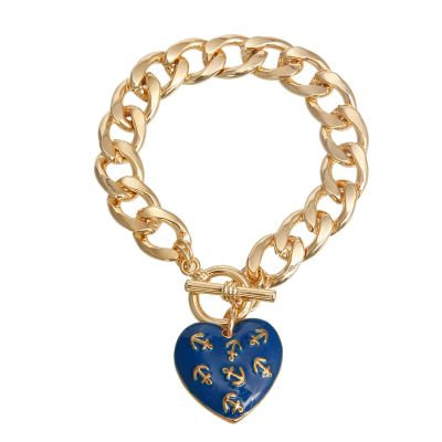 Anchor Heart Toggle Bracelet