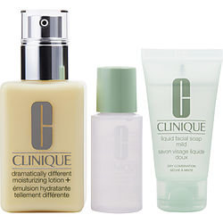 Clinique women Dramatically Different Moisturizing Trio Set-(Dry To Combination)