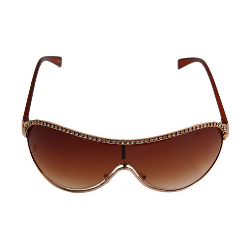 Brown Shield Aviator Sunglasses