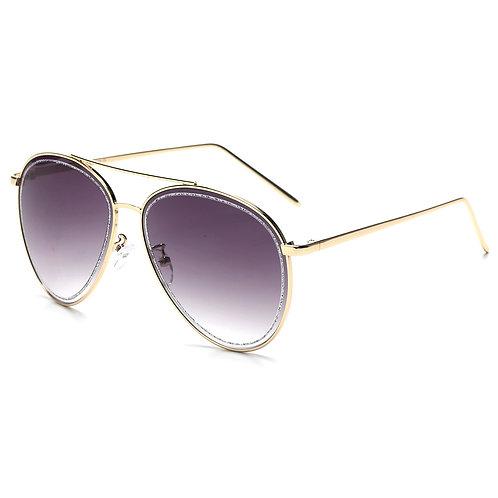 Purple Glitter Aviator Sunglasses
