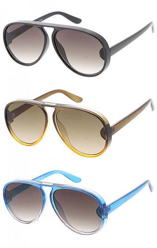 Aviator Key Whole Bold Sunglasses-Unisex