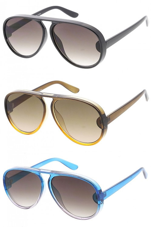 Aviator Key Whole Bold Sunglasses-Unisex