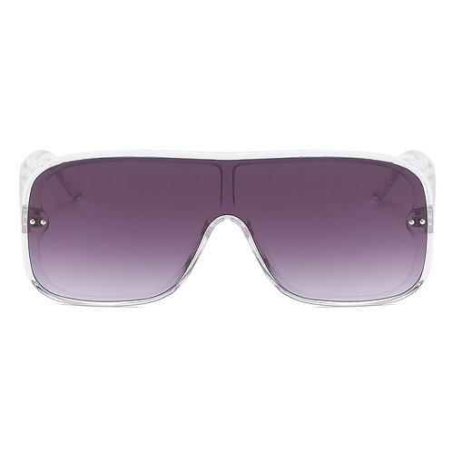 Clear Visor Flat Top Sunglasses-Unisex