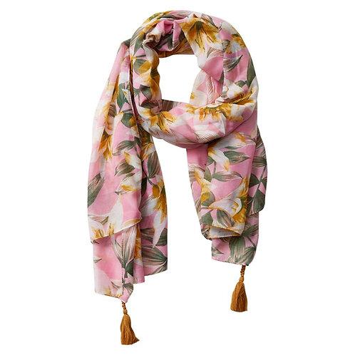 Anvi Floral Scarf - Pink
