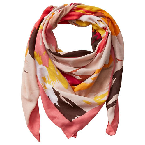 Paint Brush Square Scarf - Pink