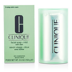 Clinique women Facial Soap - Mild (With Dish)