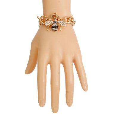Cream Pearl Bee Toggle Bracelet