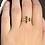 Thumbnail: 14 Karat Gold Plated and Diamond Chip Ring