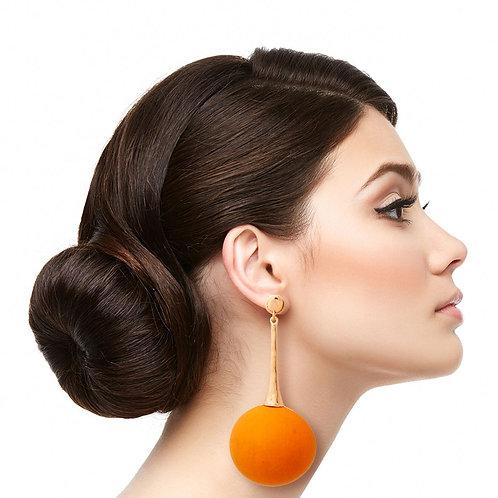 Wooden Ball Earrings