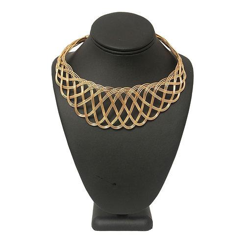 Gold Metal Weave Choker