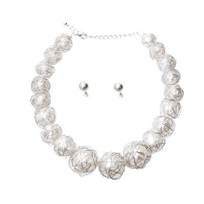 Wrapped Pearl Necklace Set