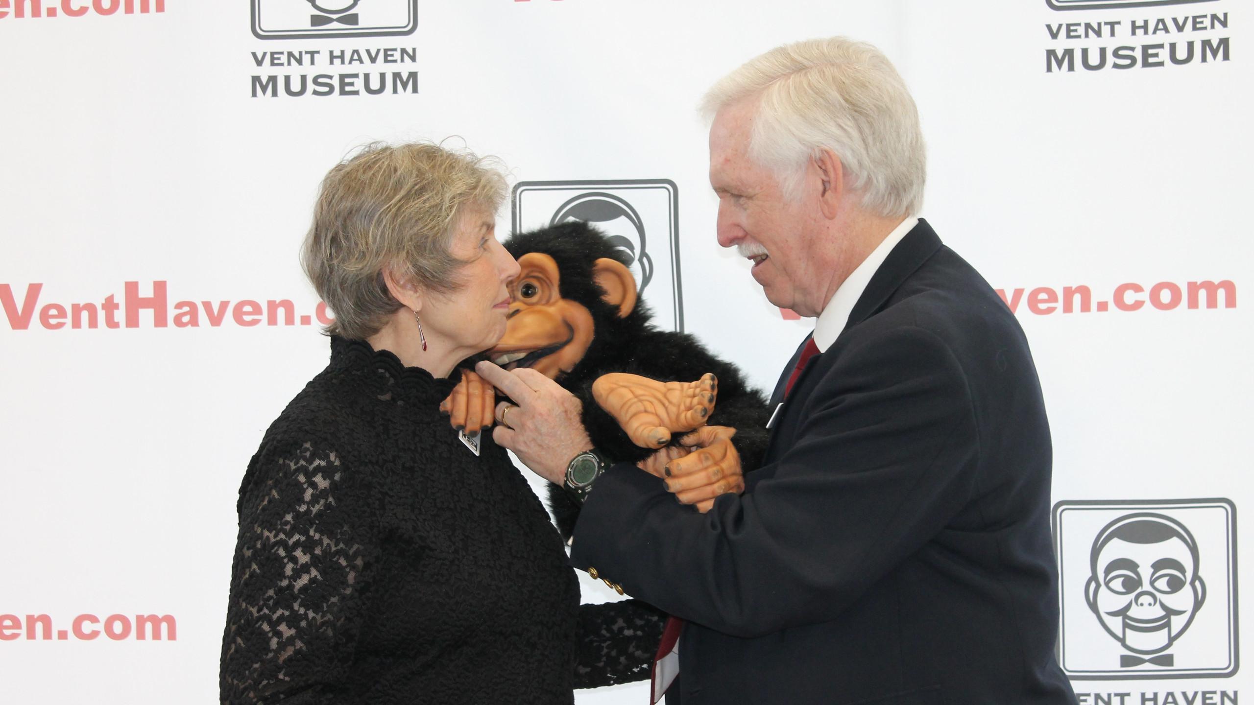 Bob & Kit Wylly with Monkey