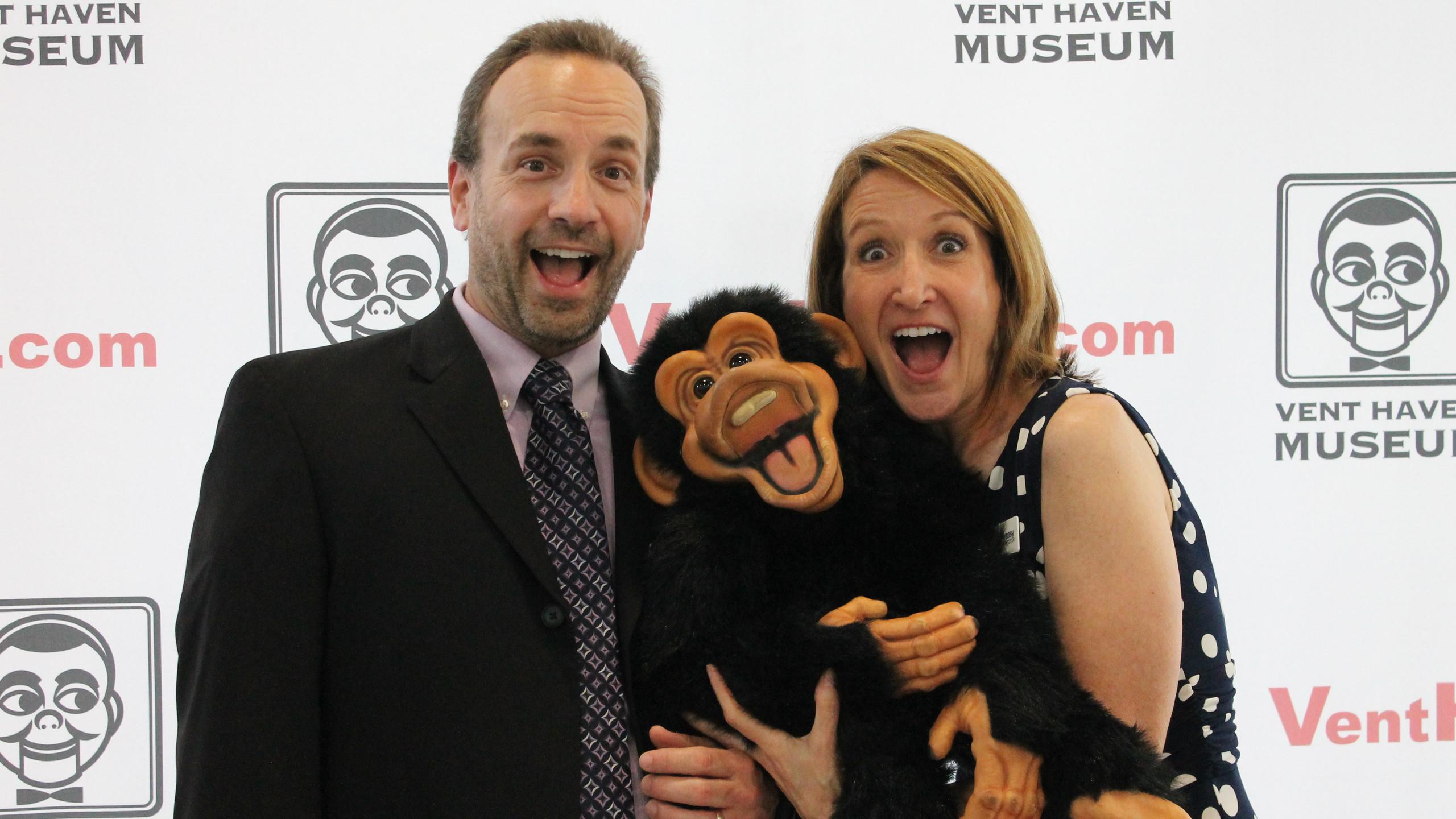 Bryan and Lisa Sweasy with Monkey