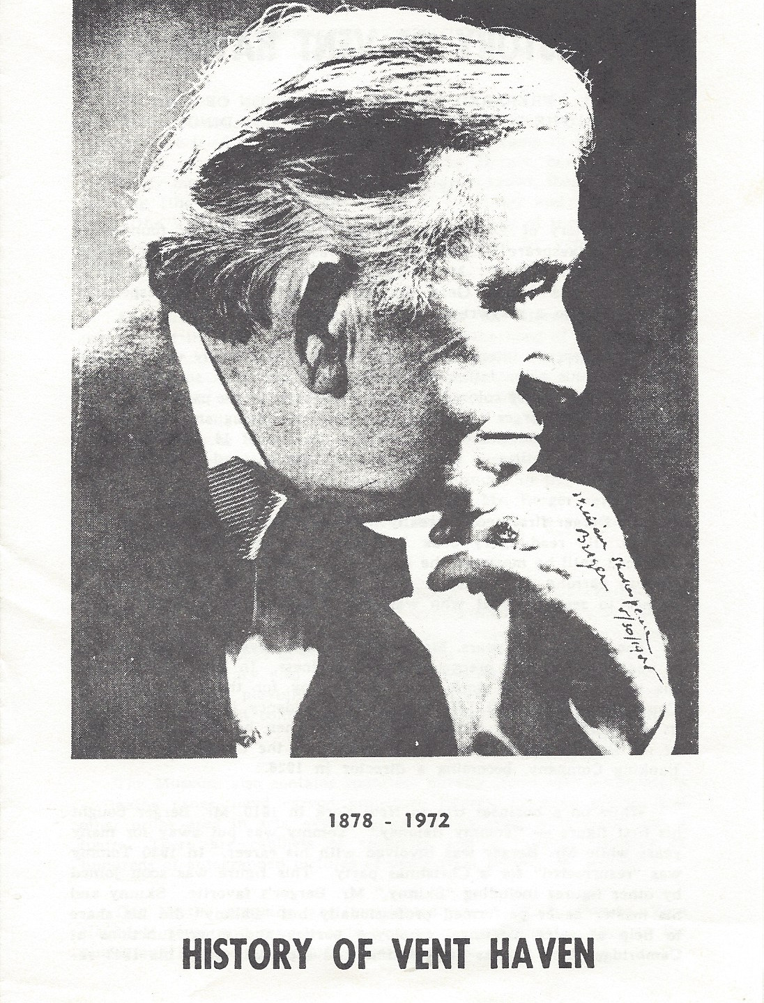 First brochure (1st published 1973)