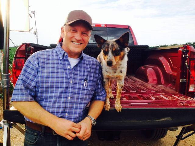 Rick Watson commercial shoot farmer