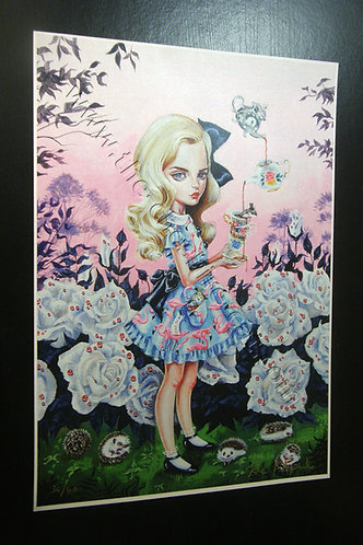Alice Limited Edition A3 Print by Julie Filipenko