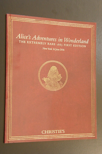 Alice's Adventures in Wonderland - 1865 First Edition