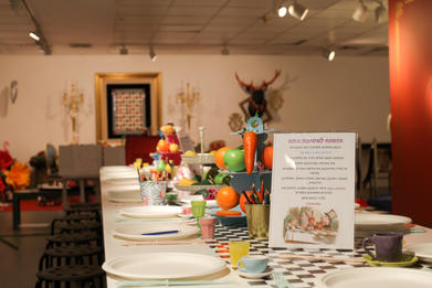 The Mad Hatter Tea Party table