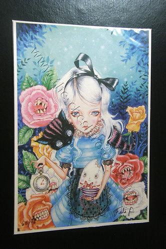 Alice Limited Edition A4 Print by Julie Filipenko