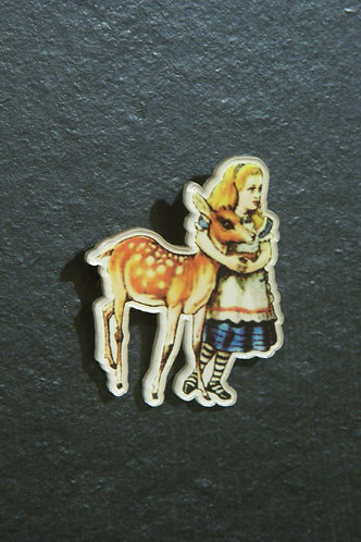 Brooch of Alice and the Fawn