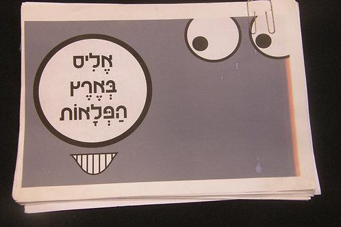 מצגת מודפסת בנושא ההצגה שעלתה בתאטרון הבימה