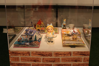 Pop Up books desplay with ceramic doll by Fugi Naim