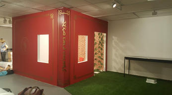 In the middle of the gallery there was a small room shaped as a book