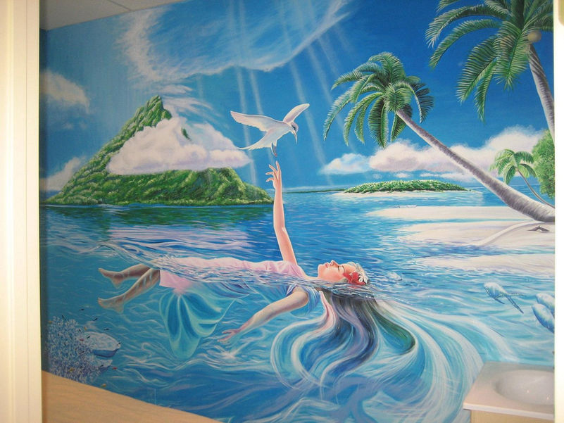 Mural for spa salon